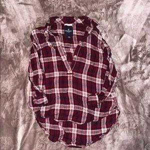 American Eagle Boyfriend Fit Flannel Top Size XS